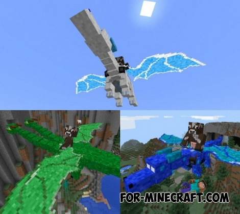 Dragon Mounts Mod [Minecraft PE 0.14.0/0.14.1/0.14.2/0.15.2]