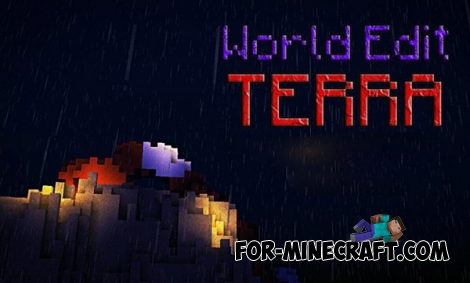 World Edit Terra mod for Minecraft PE 0.14.0