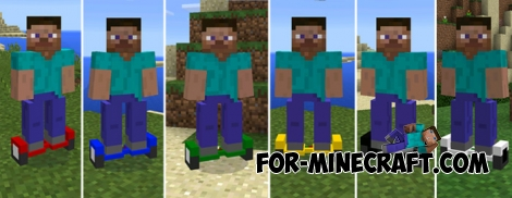 Hoverboard mod for Minecraft Pocket Edition 0.14.0