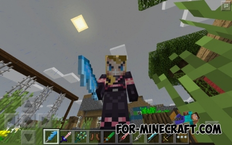 Mo'Swords mod for Minecraft PE 0.12/0.13/0.14.0