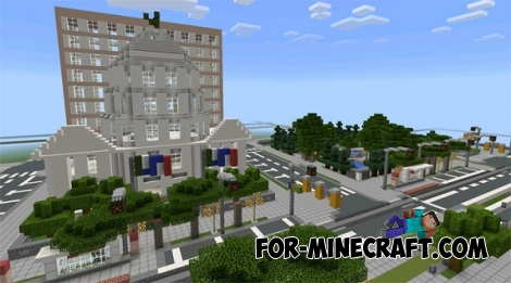 Glenpoint City map for Minecraft PE 0.14