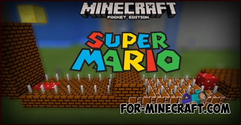 Super Mario mod + map for MCPE 0.14.0