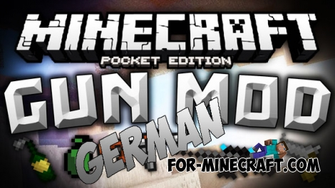 GermanGuns mod for Minecraft PE 0.14.0/0.14.1