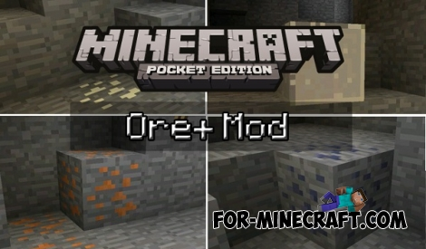 Ore plus mod for Minecraft Pocket Edition 0.14.1