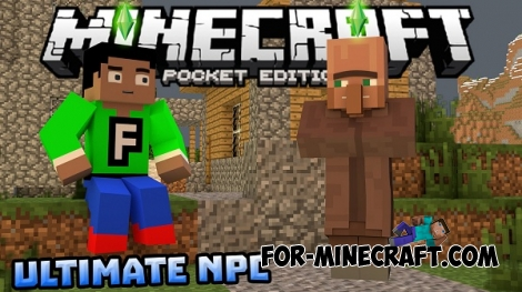 Ultimate NPCs Mod 2 for MCPE 0.14.0/0.14.1