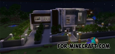 Modern Mansion map for MCPE 0.14.1/0.15.0