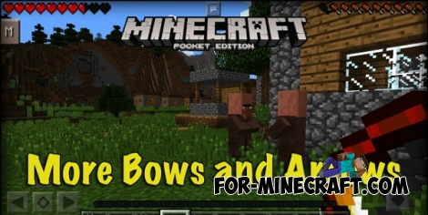 More Bows and Arrows v2 for MCPE 0.12/0.14.X