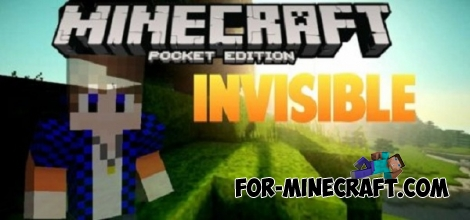 Invisible mod for Minecraft PE 0.14.0/0.14.1/0.14.2