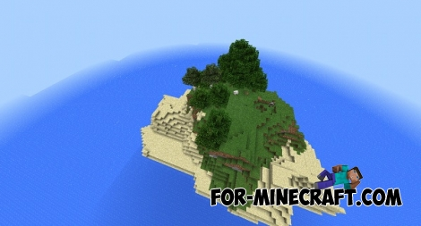Small island seed for Minecraft Pocket Edition