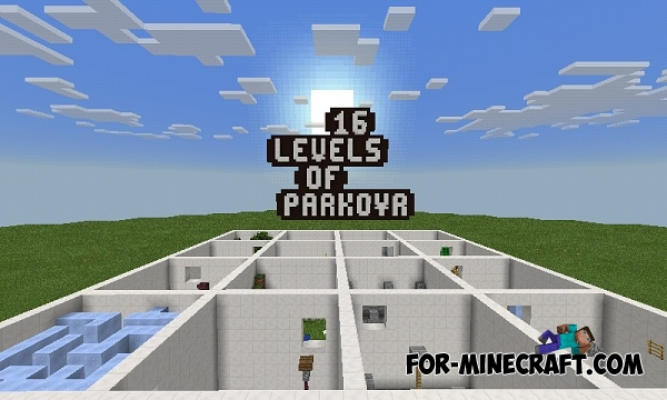 16 Levels Of Parkour map for Minecraft PE 0 15 2