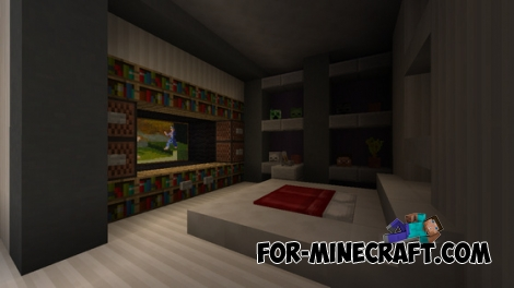 Automatic Redstone House map for Minecraft PE 0.15.0/0.15.1
