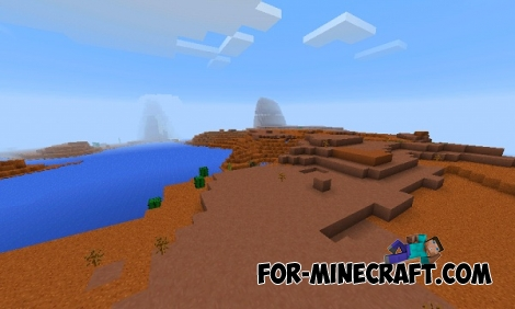 Red land seed for Minecraft PE