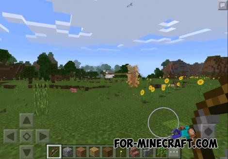 Reinforced Bow mod for Minecraft Pocket Edition 0.15