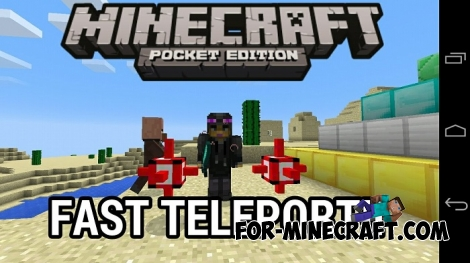 Fast Teleport mod for Minecraft PE 0.15