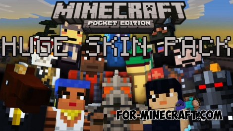 Huge skin pack (1237 skins) for Minecraft PE