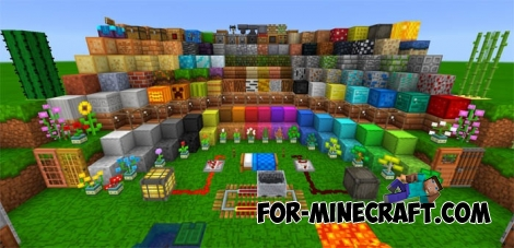 Color Underground Texture [16×16] for Minecraft PE 0.15