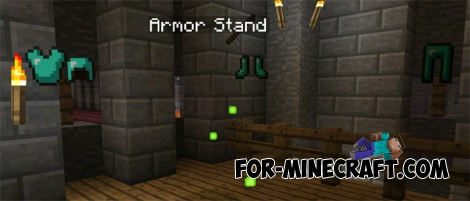 Armor Stand mod for Minecraft PE 0.15.1/0.15.2/0.15.3