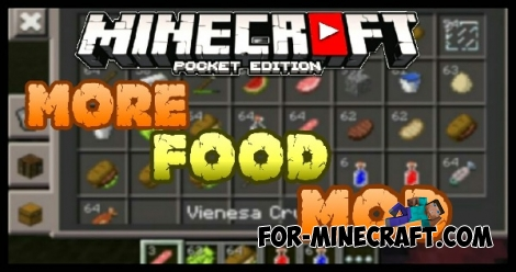 More Food mod for Minecraft PE 0.15.8/0.16.0