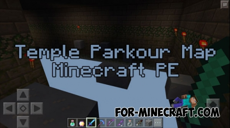 Temple Parkour map for MCPE 0.15/0.16.0