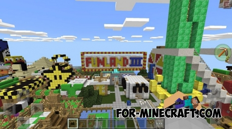 FUNLAND 3 map for MCPE 0.16.0