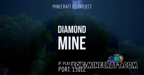 DiamondMine server for Minecraft PE 0.15.10/0.16.0