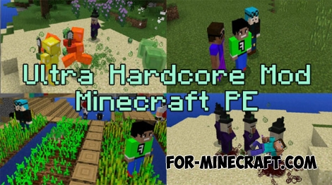Ultra Hardcore mod for Minecraft PE 0.15.10/0.16.0
