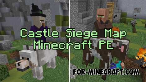 Castle Siege map (+Addon) for Minecraft PE 0.16