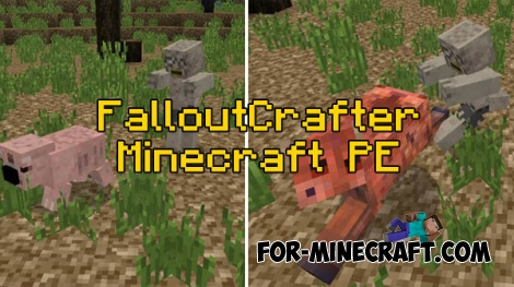 FalloutCrafter mod for Minecraft PE 0.16.0