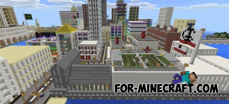 State of Democratia map for Minecraft PE 1.1+