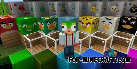 Angry Birds texture pack for MCPE 0.16