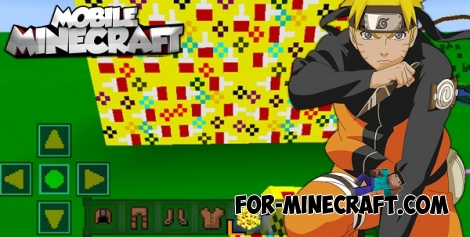Naruto textures for Minecraft PE 0.17.0