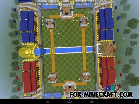 Clash Royale map for Pocket Edition 0.17