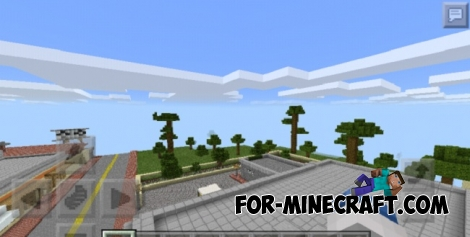 GTA San Andreas Map for Minecraft PE 0.17.0