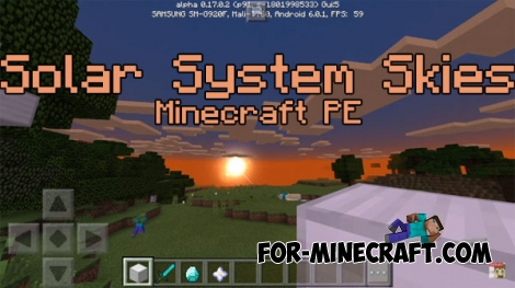 Solar System Skies Texture pack for MCPE 0.17.0