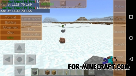 Vertex Client Hack v3.0 for Minecraft PE 0.16.2/1.2
