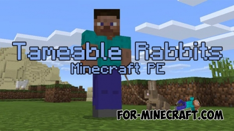 Tameable Rabbits mod for Minecraft PE 0.17.0