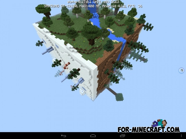 Square Planet Survival Map For Minecraft Pe 1 0 0 17 0