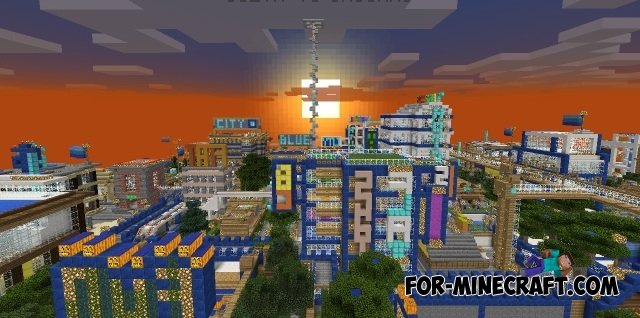 Blue City map n1 2 for Minecraft PE 1 2/1 10 0 3