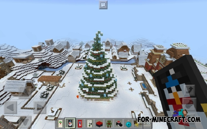 Minecraft Christmas Houses.Christmas Village Map For Mcpe 1 0