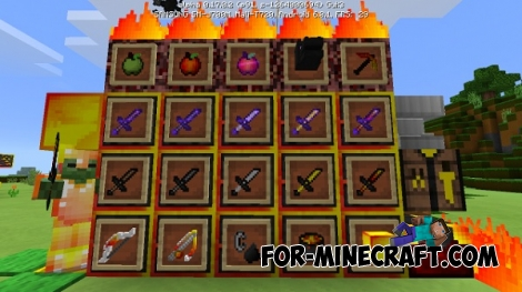 Red Yellow PvP Texture Pack for MCPE 0.17.0