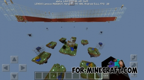 Skywars - Legendary Chests map for MCPE 1.0 / 0.17.0