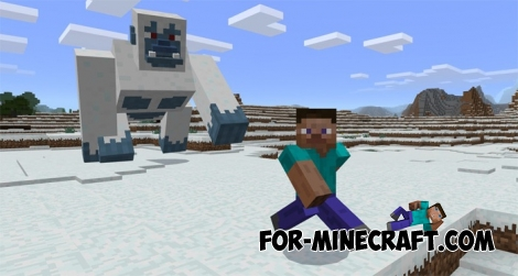 Yeti mod for Minecraft PE 1.0/0.17.0