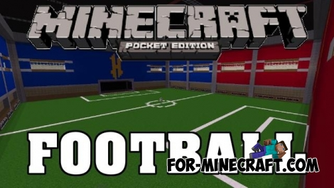 Football addon + stadium for Minecraft PE 1.0/0.17.0