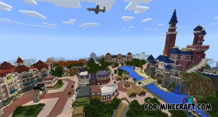 DisneyLand map v0.7 for Minecraft PE 1.0.0/1.1.0 on