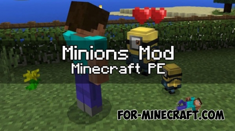 Minions mod v4 for Minecraft PE 1.0.0/1.1