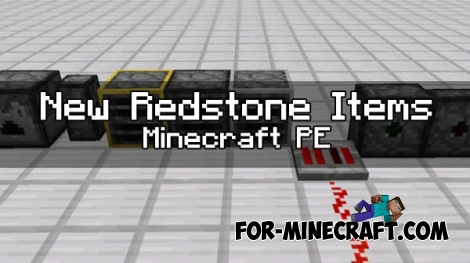 New Redstone items mod for Minecraft PE 1.0.0 / 0.17.0