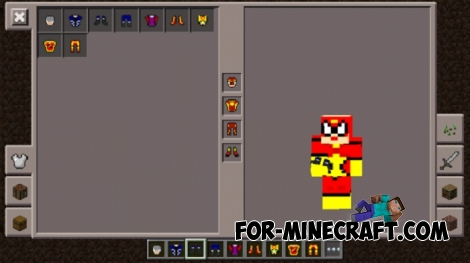Superheroes mod v3 for Minecraft PE 1.0.0/1.0.3
