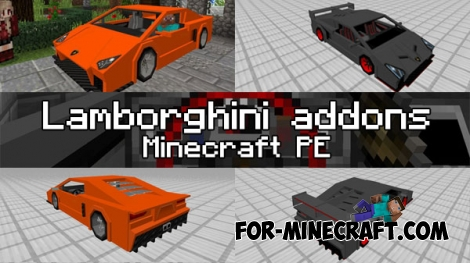 Lamborghini (2 in 1) for Minecraft PE 1.0.0/1.1
