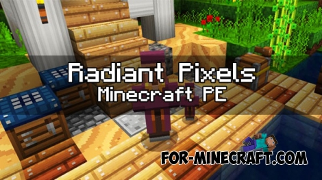 Radiant Pixels Textures for Minecraft PE 1.0.X