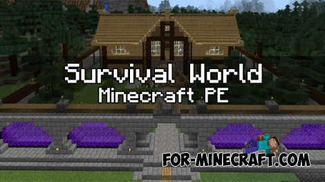 Survival World map for MCPE 1.0